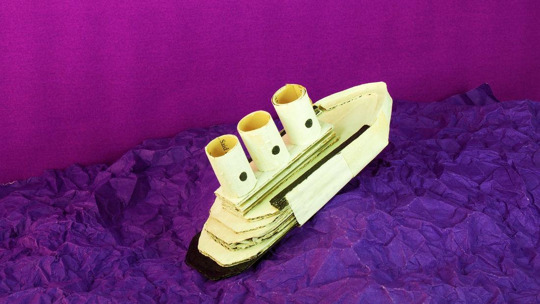 Inspired Diorama Paper Ship Sea Papercraft Tide