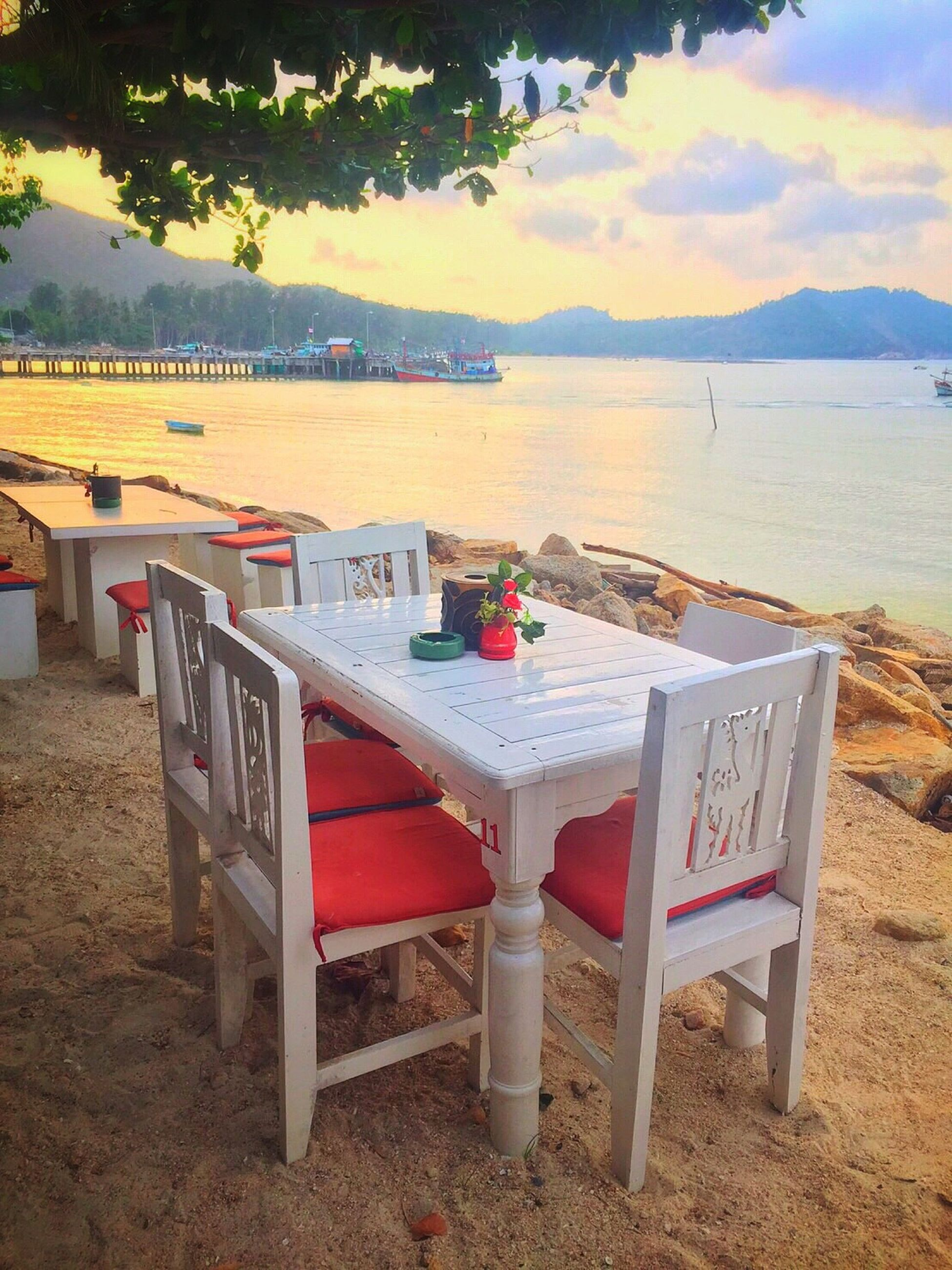 Best dinner and relax sunset KohPhangan Thailand Romantic Thesea Thailand The Ocean