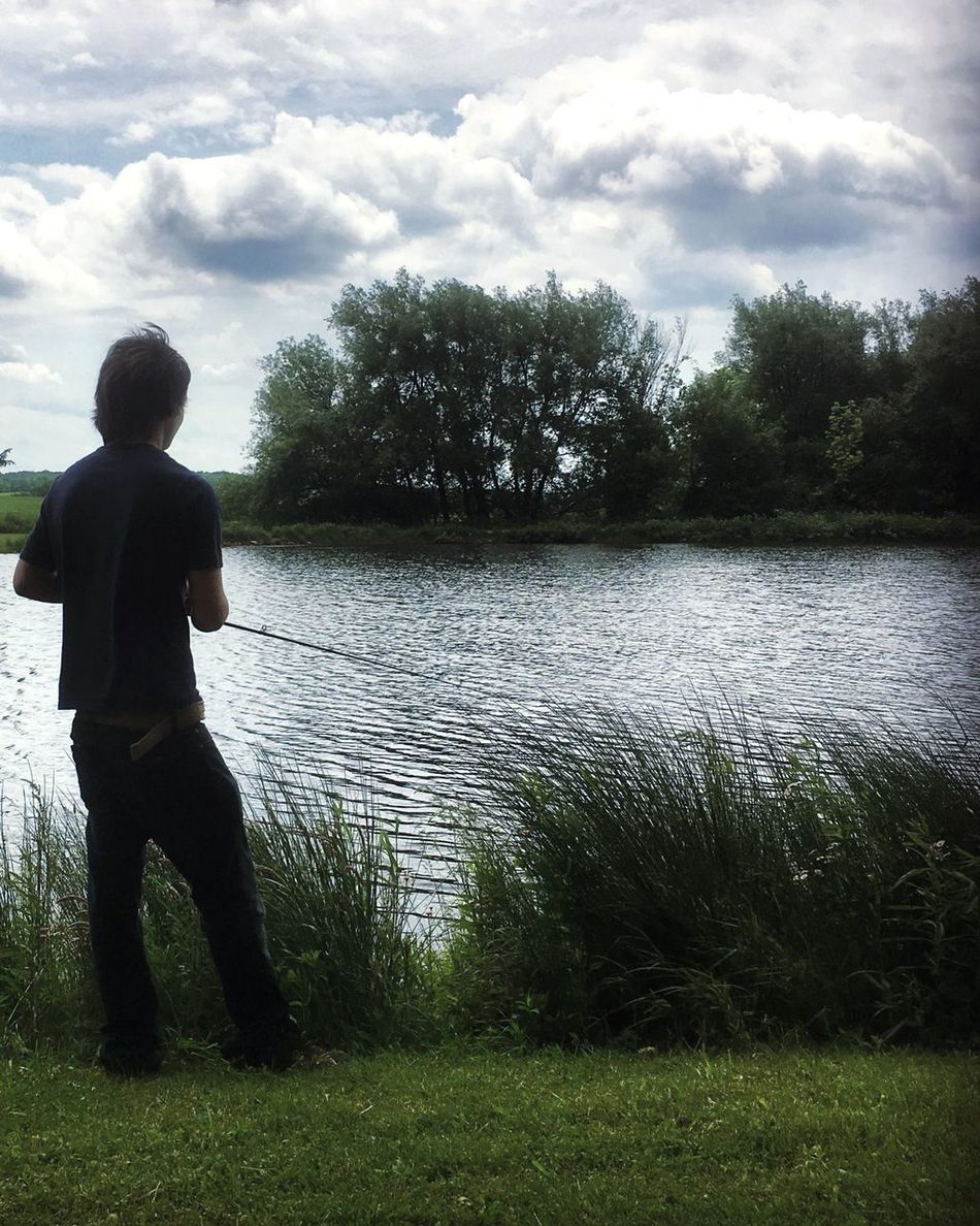 Water Tranquil Scene Cloud - Sky Outdoors Lake Summer Views Fishing