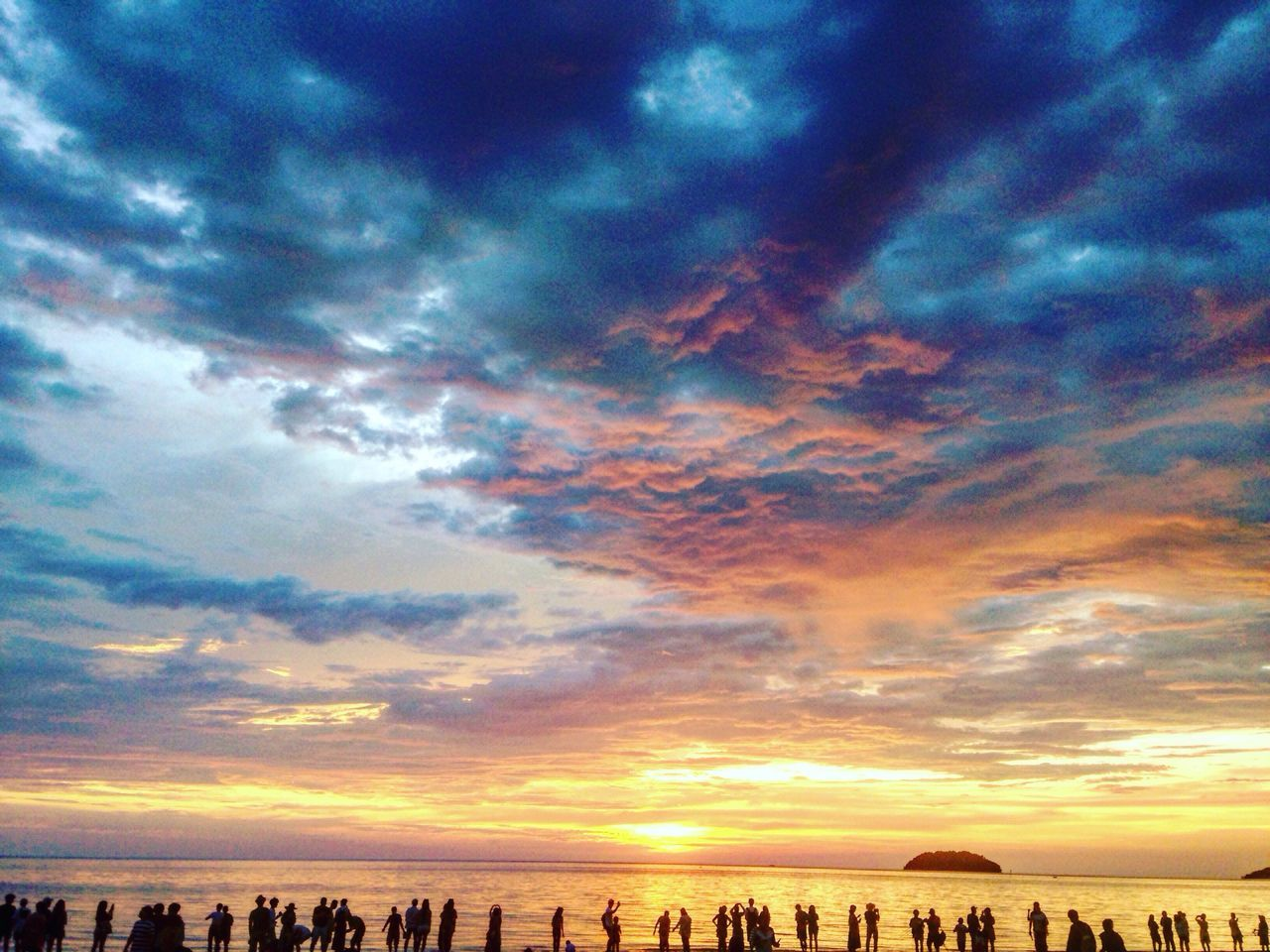 Beauty sunset made the our Lord 😍 Sunset Beauty In Nature Cloud - Sky Sky Beach TanakwaguBolotikon