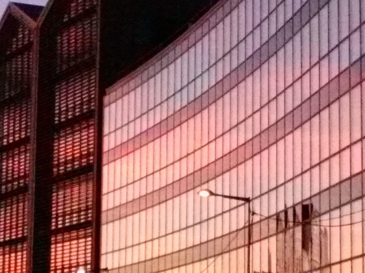 Coucher De Soleil Reflet Mi Novembre Bord Périphérique Parisien