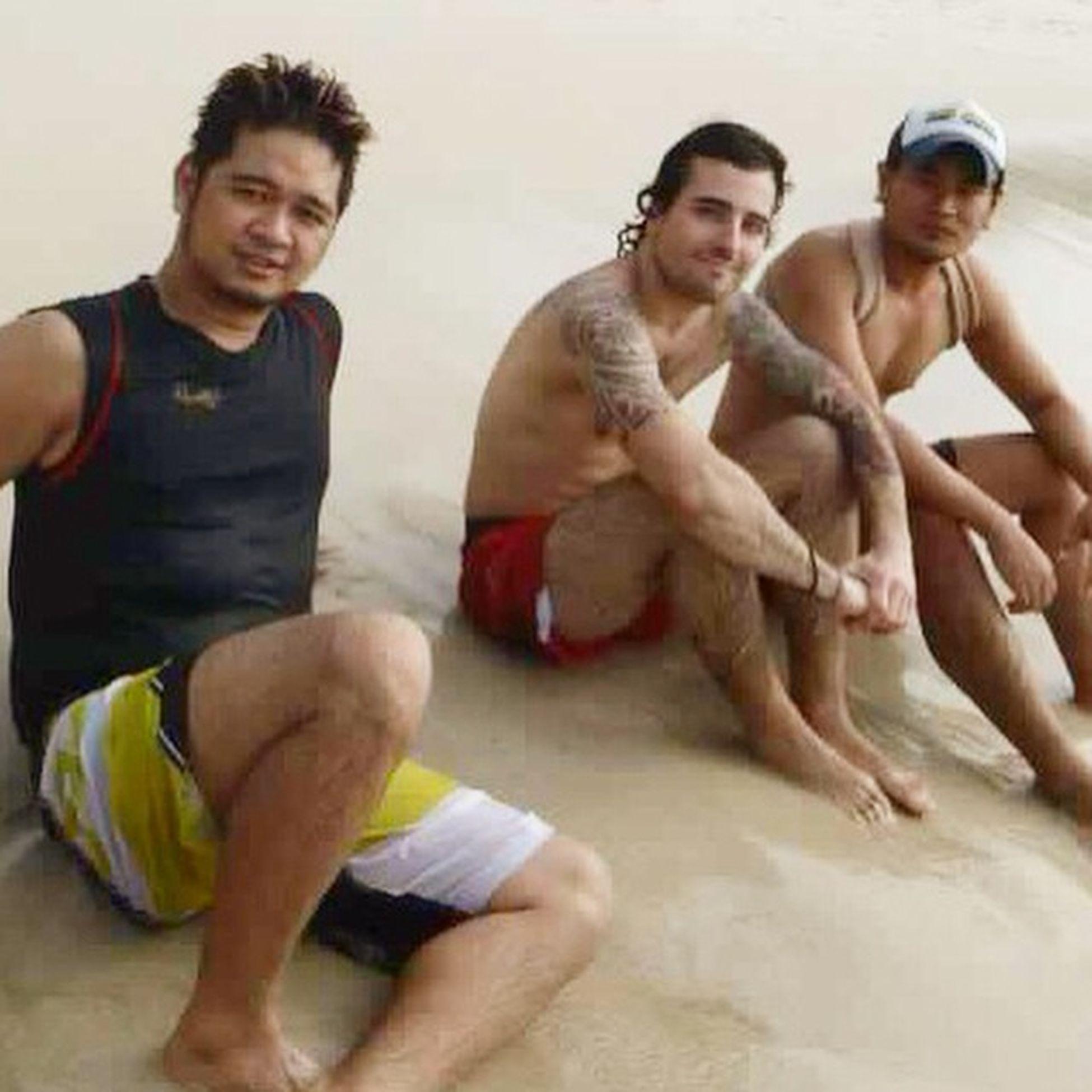 With beach buddies at Freedombeach Phuket djjuan and giovanni coratela
