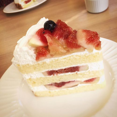A Taste Of Life Fig Fig Cake 無花果 無花果のショートケーキ Sweet Cake Yummy♡