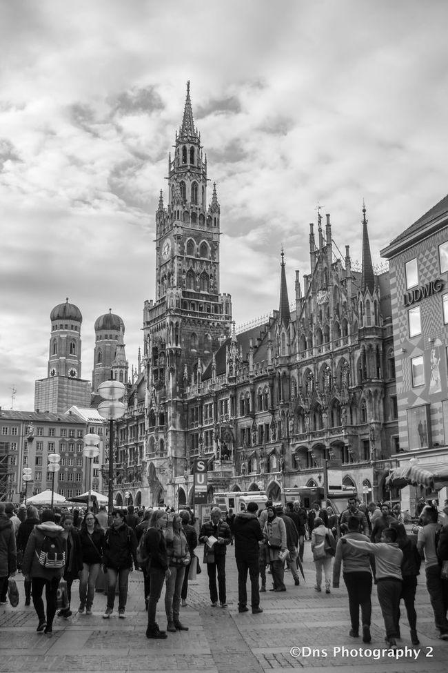 Blackandwhite Photography Lovecity  Marianplatz Monochrome Munich Nikonphotography Streetphotography Urban Exploration