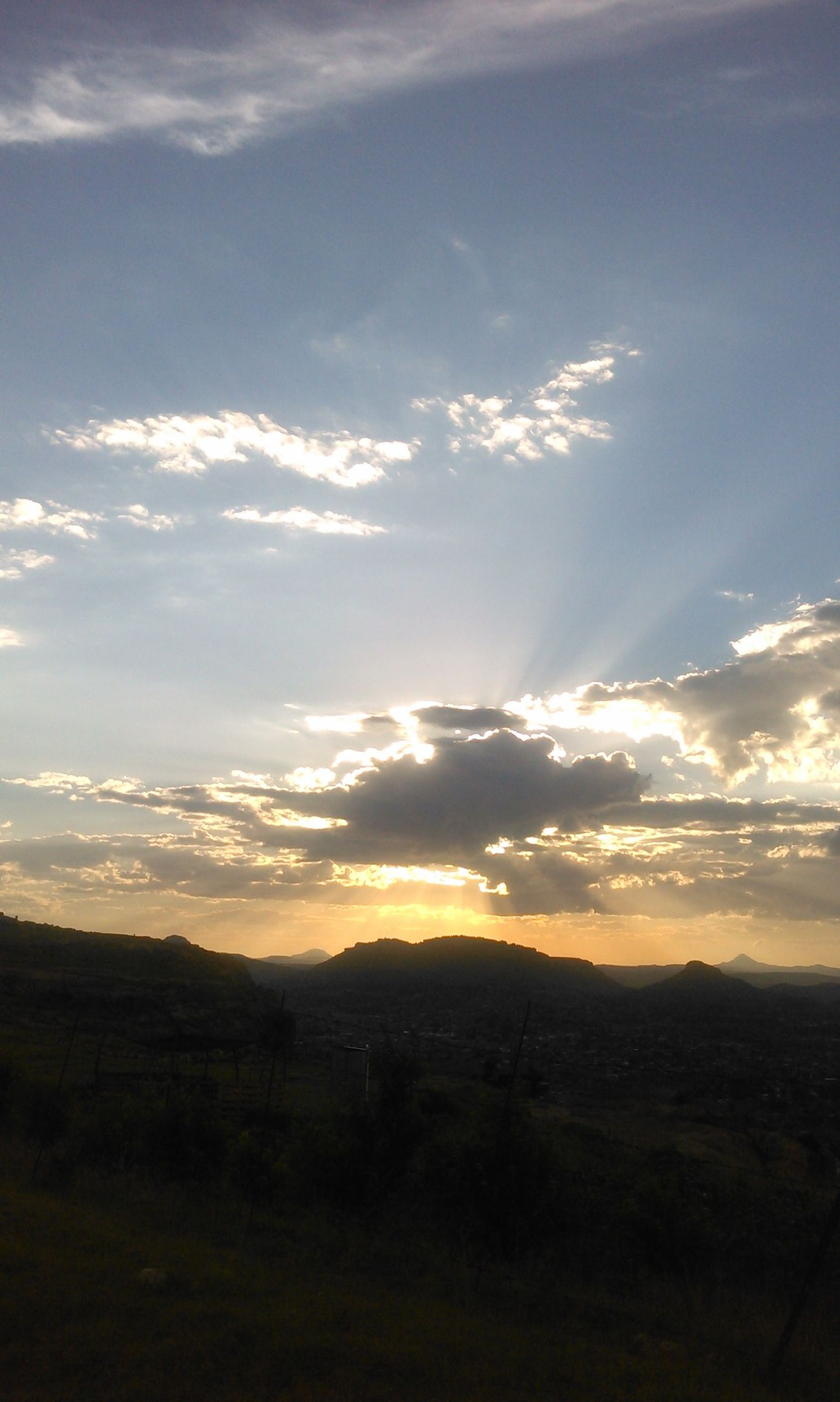 I'm really a sucker for evening glows, don't mind me, it doesn't take much to give me a peace of mind Sunset Maseru Mountain Kingdom Glory