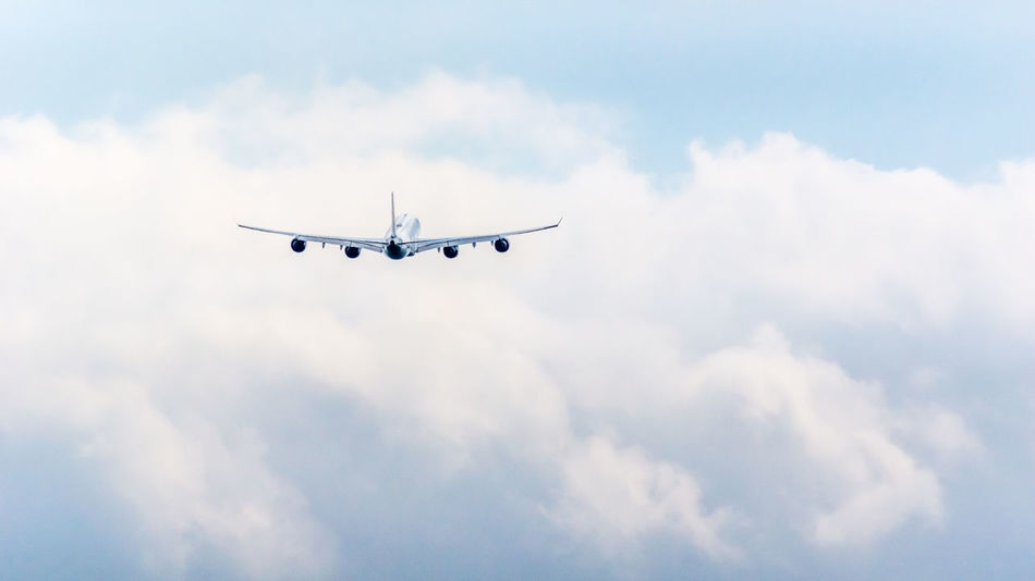 Beautiful stock photos of transport, Air Vehicle, Airplane, Blue, Cloud