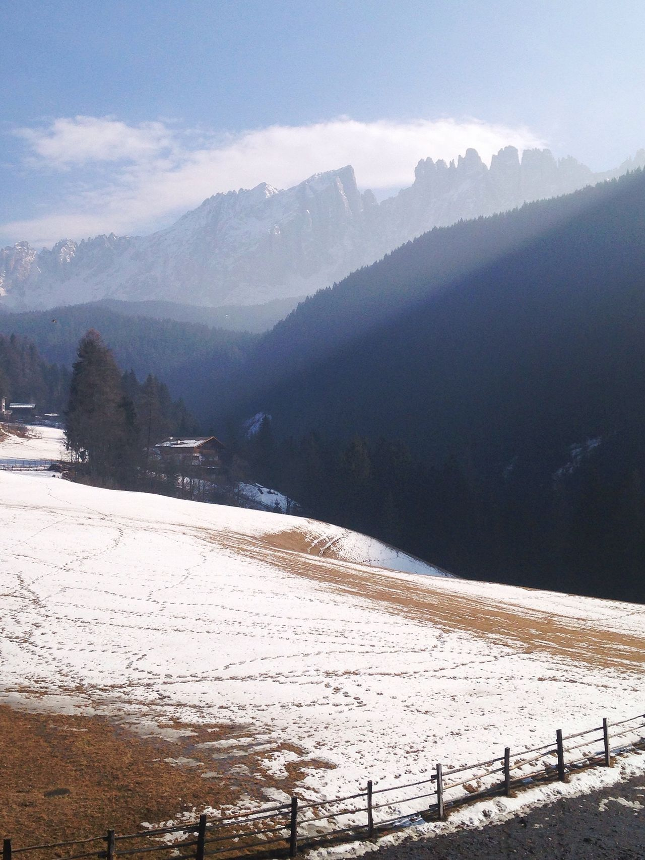 54/365 2017 February 23 One Year Project Welschnofen Nova Levante South Tyrol Trentino Alto Adige Italy Latemar Cold Temperature Snow Winter Mountain Tranquility Tranquil Scene Scenics Beauty In Nature Nature Landscape Mountain Range No People Day Sky Outdoors
