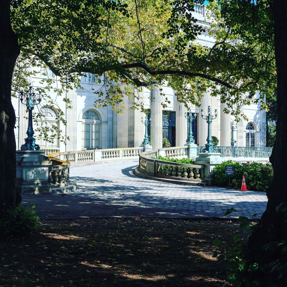 Driveway. Palace Mansion Marble House Newport Mansions Architecture
