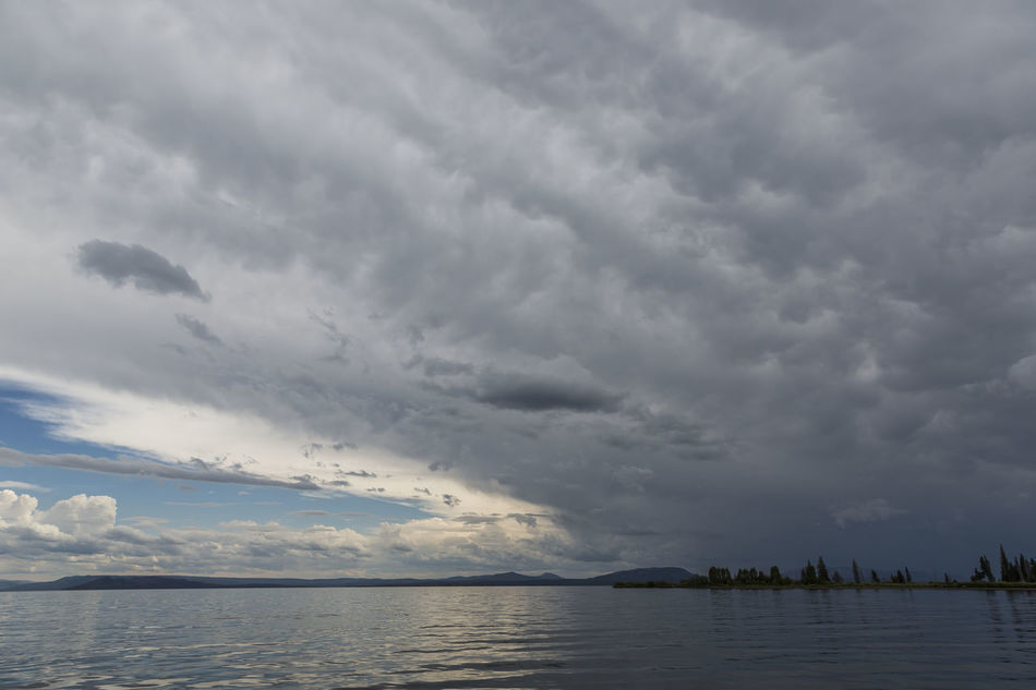 Thunderstorm over Yellowstone Lake Beauty In Nature Cloud - Sky Extreme Weather Scenics Storm Cloud Thunderstorm Wide Angle Yellowstone Lake