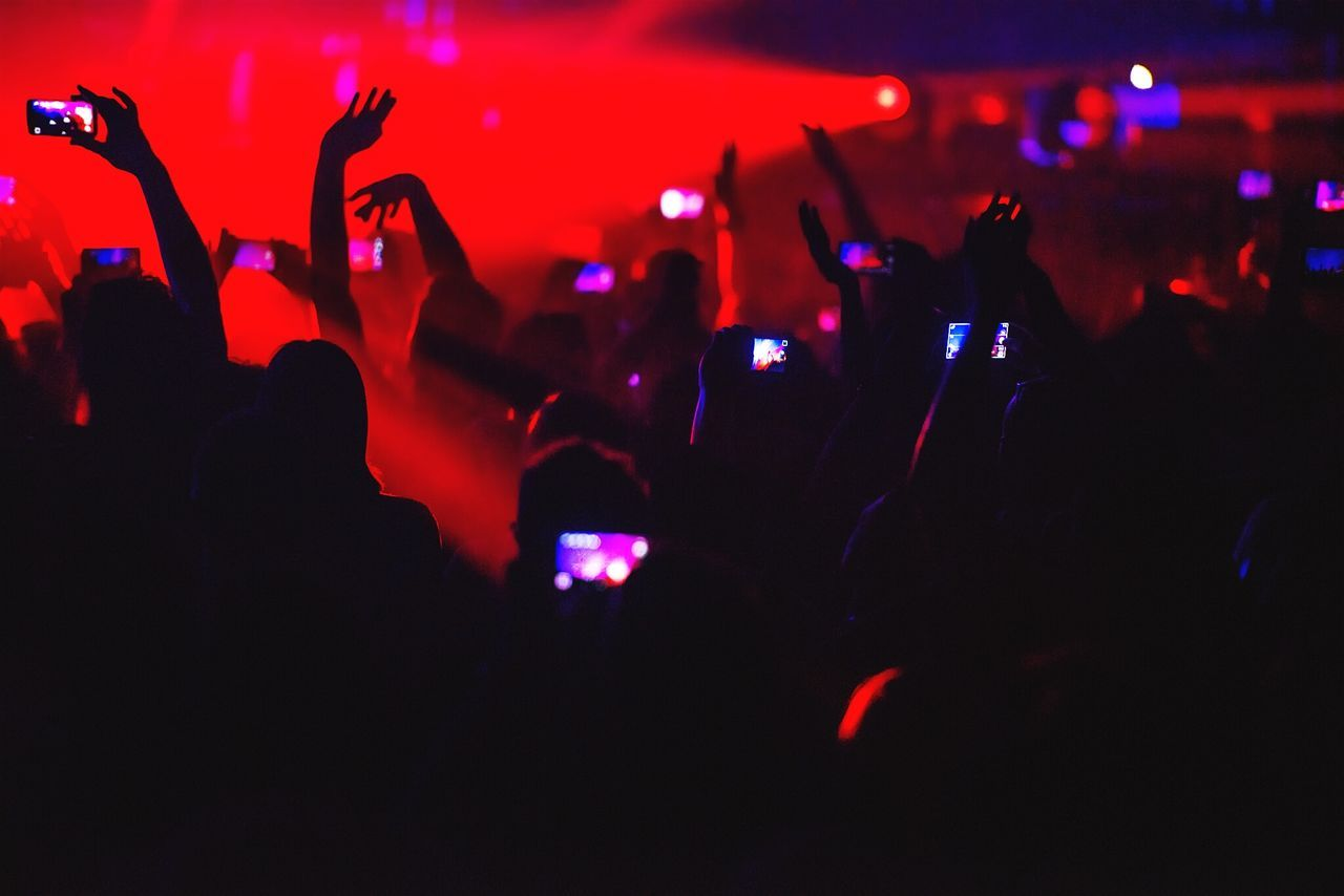 Beautiful stock photos of concert, Arms Raised, Arts Culture And Entertainment, Audience, Cheering