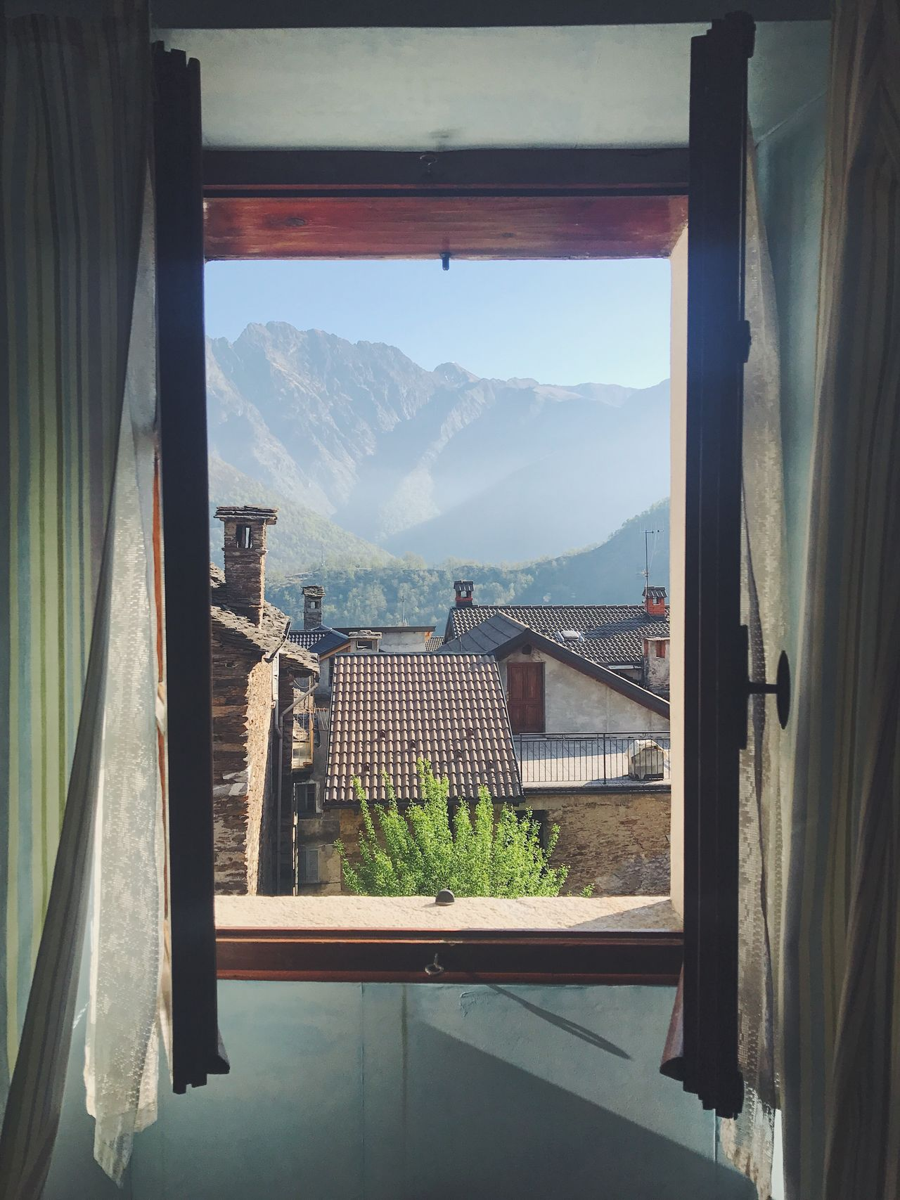 Mountain Range Window Beauty In Nature Scenics Mountains Rural Scene Window View Italia Italy Valley Quiet Moments Quiet Places Morning Light Morning View Mountain