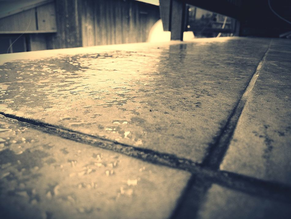Rain finished and floor is wet... 💧💧 First Eyeem Photo Water Nature Nature_collection Black And White Black Rain After Rain Raining☔ Wet Floor Wet