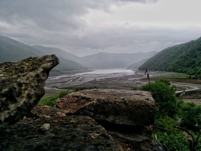 Rain River Stone Georgia Ananuri Old Castle The Great Outdoors - 2016 EyeEm Awards