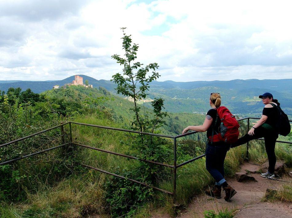 on a hiking tour Adventure Club Hikingadventures Castle On A Hill Annweiler Trifelsland Trifels Pfalz Forest Hiking Trail