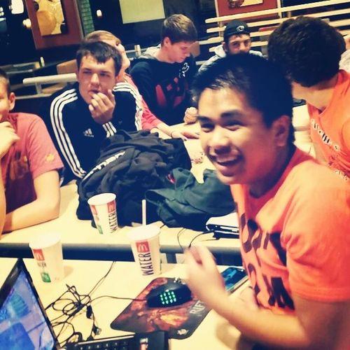 TBT  To watching League of Legends Worlds in McDonalds SKTT1 FakerIsGod