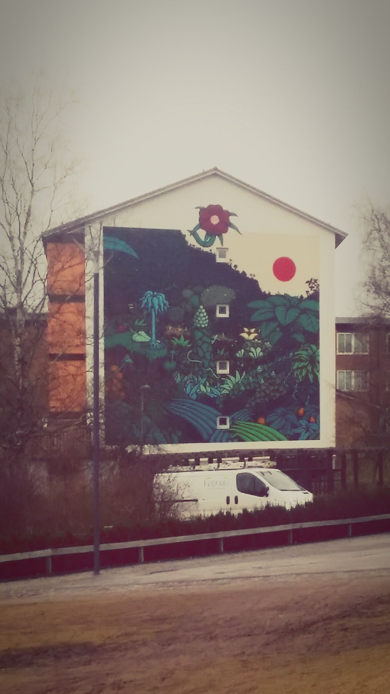 Love thoose bulidings with artwork on them in my neighbourhood, here is one of them Araby Sweden Architecture