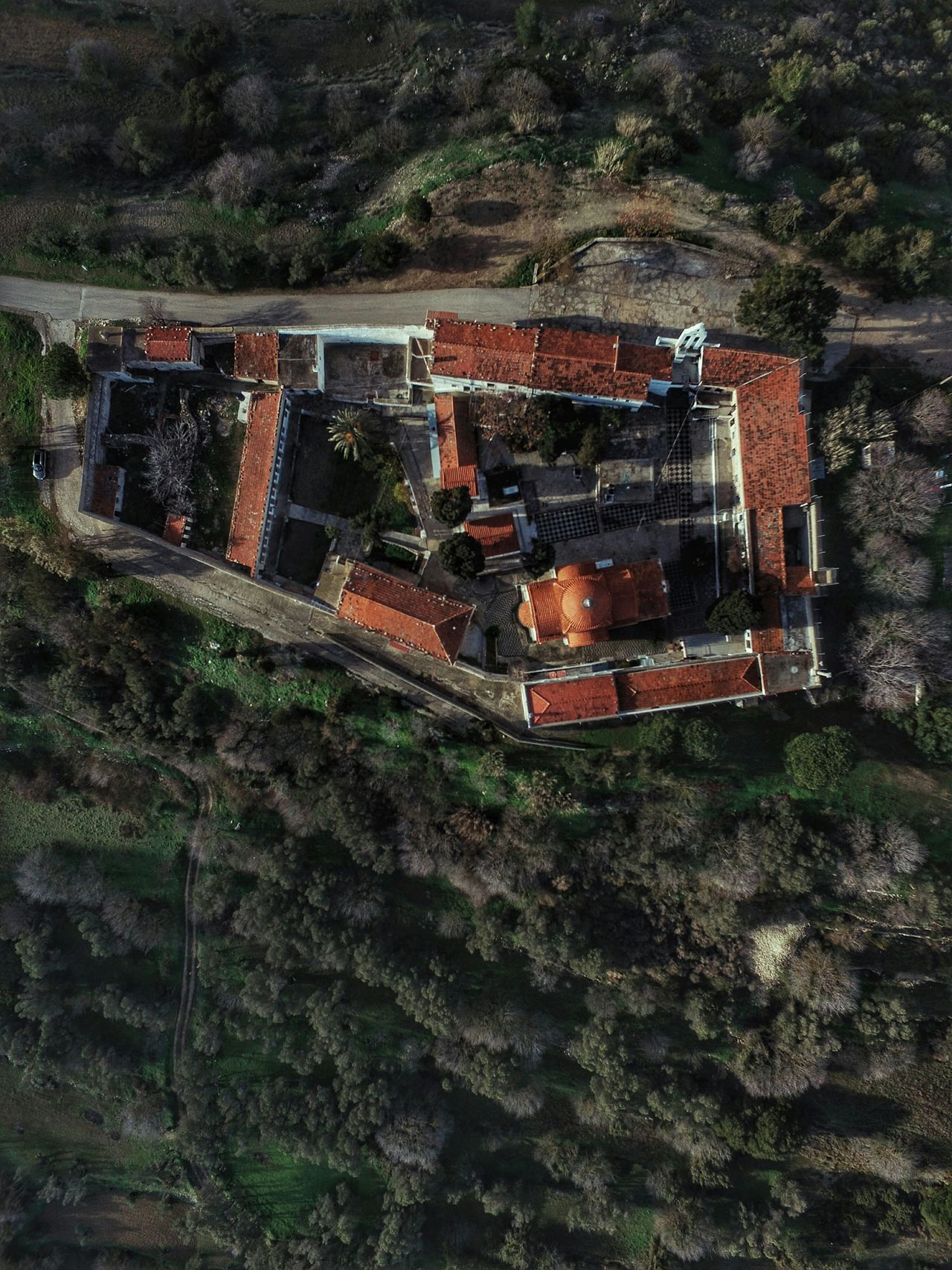 Monastery View From Above Aerial Shot Dronephotography Religious Architecture Travel Destinations Tranquil Scene Beauty In Nature Church Architecture Aerial View Early Morning Morning Light Drone  Church Building Exterior Architecture Religion Tranquility Malephotographerofthemonth Birds Eye View Trees Calmness