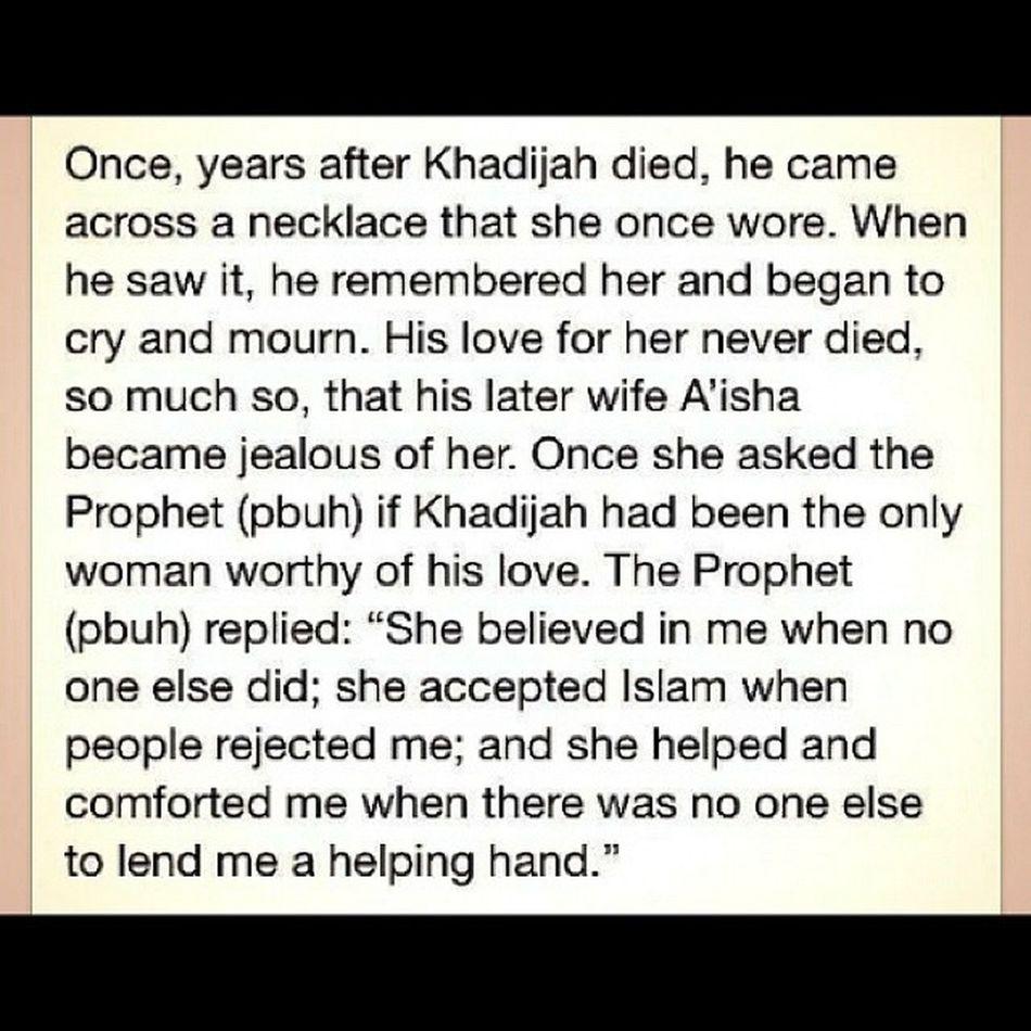 The greatest love story ever! Muhammadpbuh Muhammadsaw HazratKhadija HazratAisha UmulMomeneen MothersOfMuslims ilovemuhammad welovemuhammad Islamic ProphetMuhammad