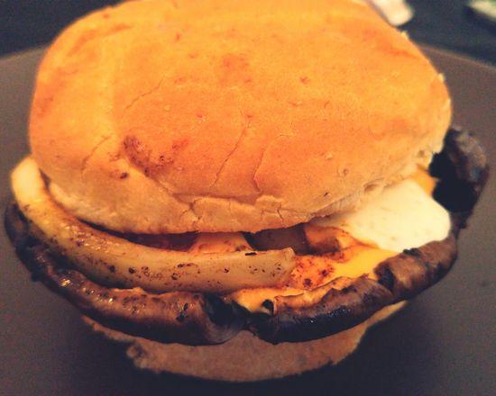 Portabello burger Cooking Cheese!