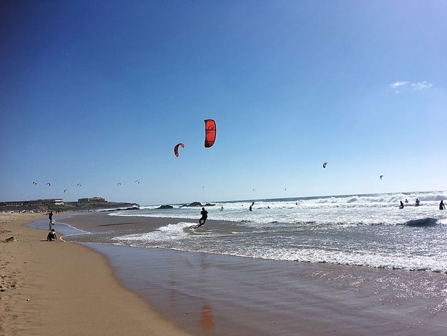 Sea Beach Water Nature Horizon Over Water Shore Beauty In Nature Sand Wave Scenics Adventure Vacations Outdoors Real People Day Extreme Sports Sky Sport Motion