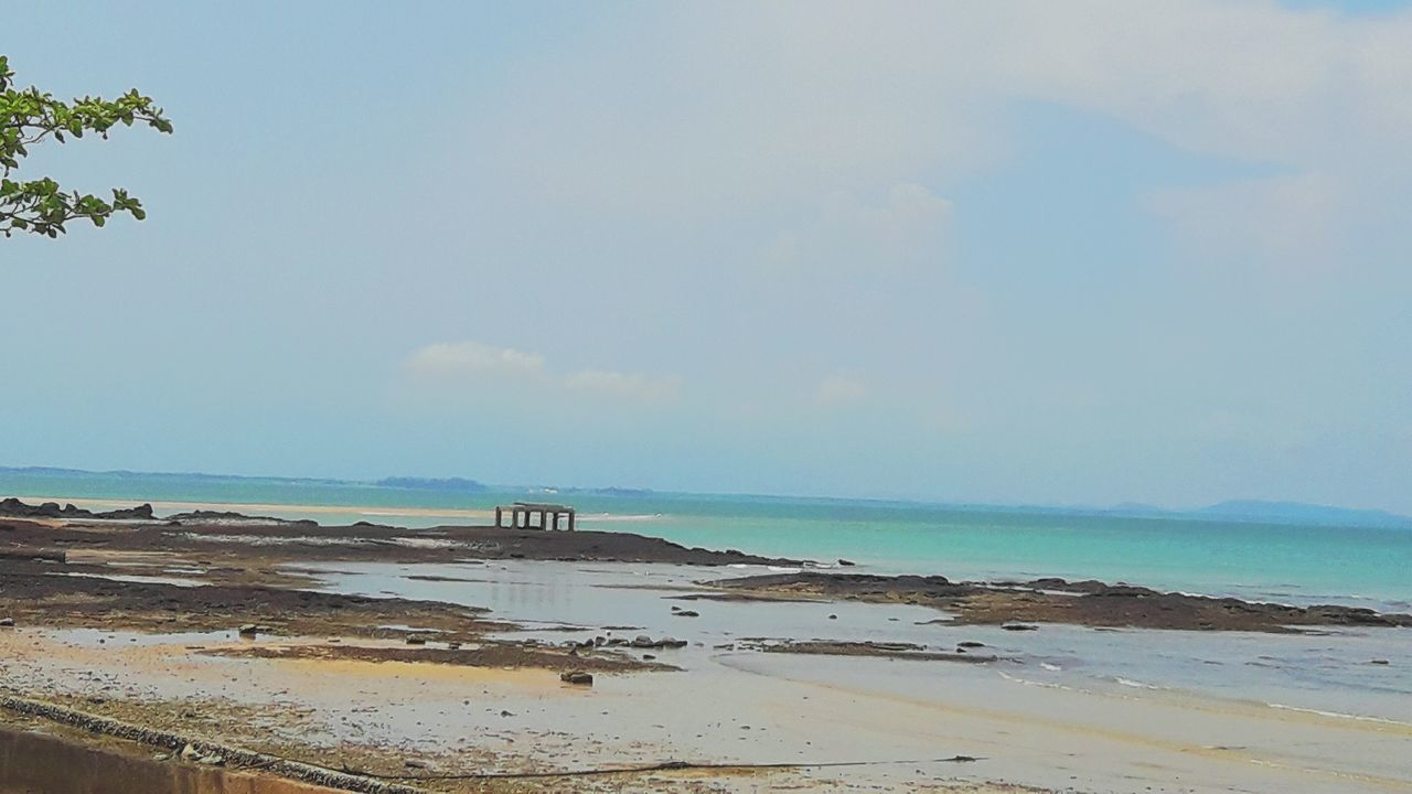 Beach Sea Sand Nature No People Sky Clear Sky Day Seascape Lonelyday Holidays ☀ Memories ❤ Captured Moment Postcard Sea And Sky Blue Travel Destinations Sea