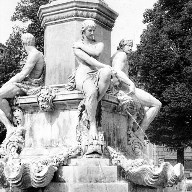 Location: Postplatz Canon AE-1 P   APX 100 -> 200   D-76 AgfaPhoto APX 100 (new) Black And White Blackandwhite Canon AE-1 Program  EyeEm Best Shots - Black + White Kodak D-76 Monochrome Sculpture Statue