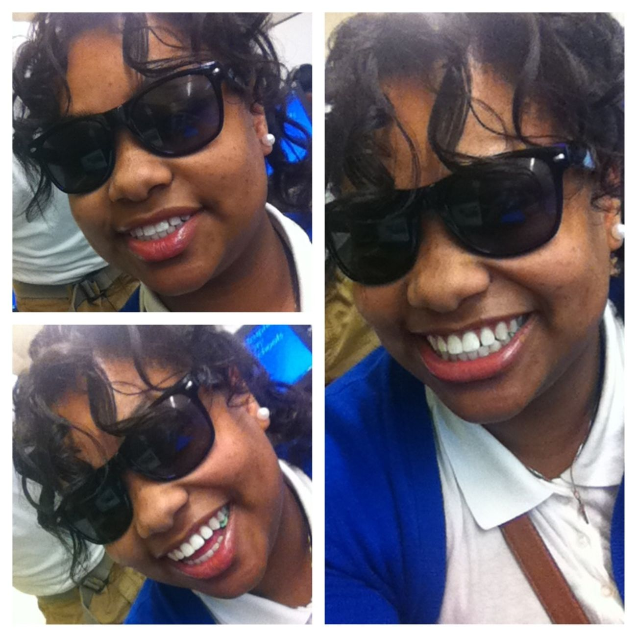 My many smiles! Baby told me I got three of em! Lol
