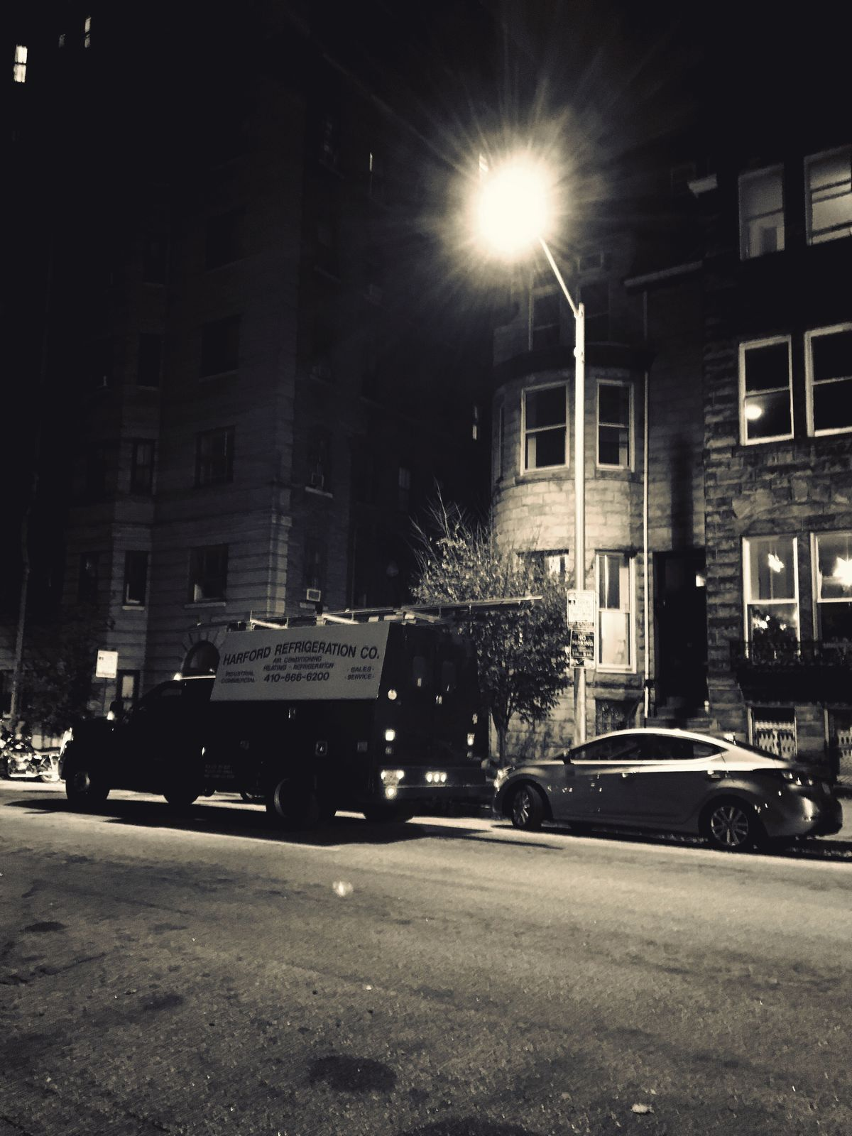 Night Photography Black & White Tonal Differences Color Filter Street Photography Road Street Light