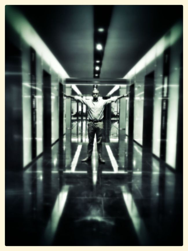 X-man - Into the light Monochrome Light And Shadow Supernormal Vanishing Point Geometric Shapes Darkness And Light The Architect - 2015 EyeEm Awards Creative Light And Shadow
