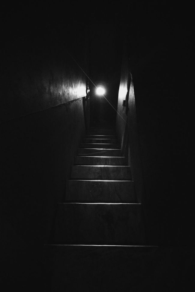 """""""Calling"""" Illuminated Night Steps Staircase Shadows Experimental VSCO Indoors  Darkness And Light My Point Of View Eyeemphotography Smartphone Photography Moto_X_PlayEyemphotography My Smartphone Life Dark"""
