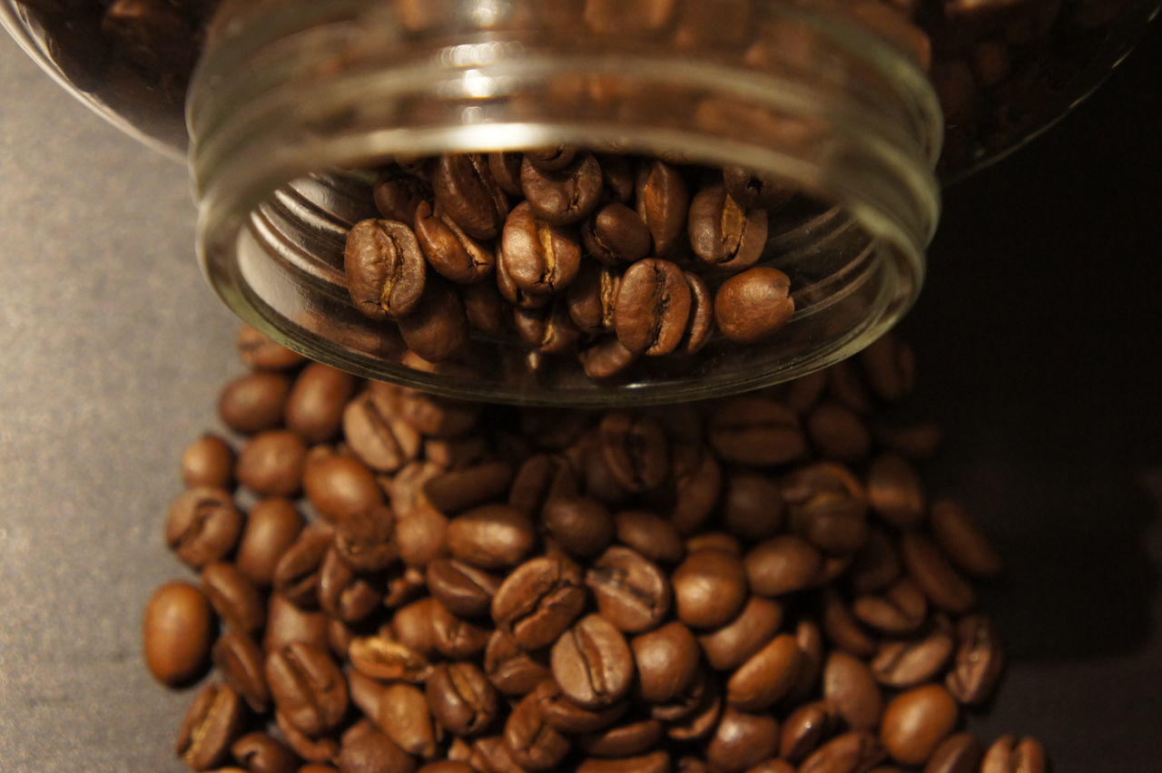 Brown Close-up Coffee Coffee Bean Coffee Break Food Food And Drink Freshness Healthy Eating Indoors  Large Group Of Objects No People Nutshell Raw Coffee Bean Seed Table