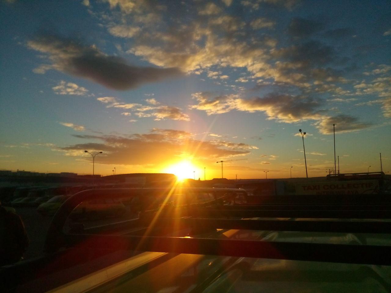 Going Home Light Spot Mode Of Transport No People Sky Shades Sunlight Sunset