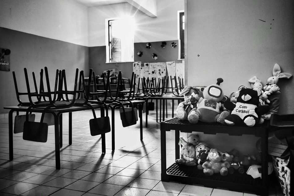 Indoors  Children Social Documentary Black And White Leisure Activity Social Photography Black & White School School Life