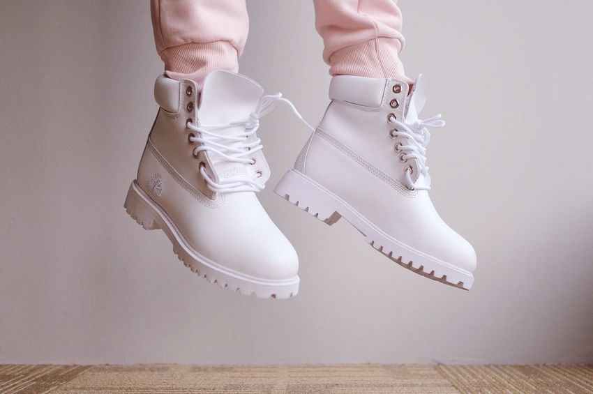 Shoes Low Section Shoe Human Leg Human Foot Indoors  Pair Real People Close-up Human Body Part Fashion Sock Ice Skate One Person Day Jump Jumping Jumpshot Boots White Boots