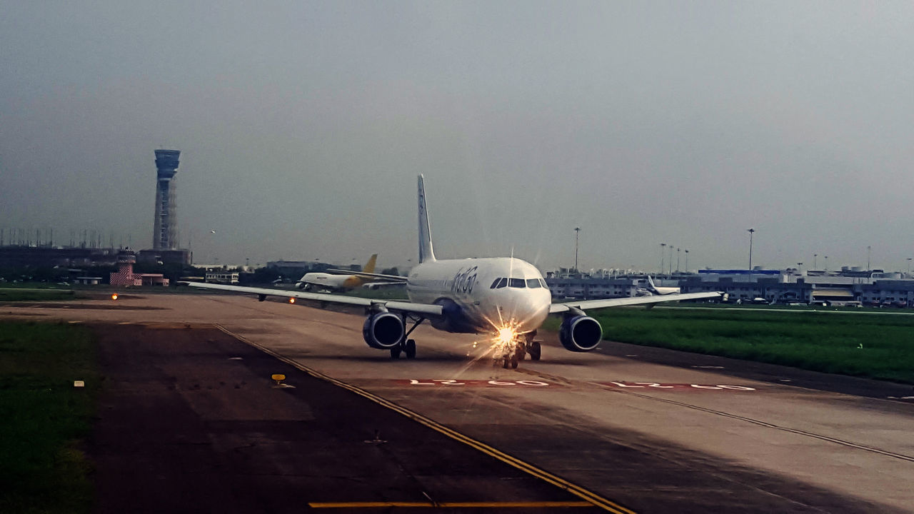 Airplane Airport Runway Transportation Airport Air Vehicle Mode Of Transport Travel Commercial Airplane Outdoors Airfield No People Indigo Airlines