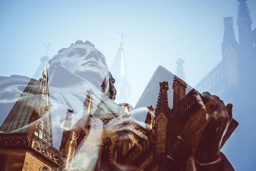 Statue of the Reformer Martin Luther in Erfurt Double exposure with Erfurter Dom Double Exposure Erfurt Erfurter Dom Lutherdenkmal Lutherstadt Martin Luther Memorial Religion And Tradition Statue Anger Christ Doubleexposure Erfurtcity Germany Landmark Luther Lutherjahr2017 One Person Portrait Reformation Reformation Day Religion Religion And Beliefs Sculpture Summer