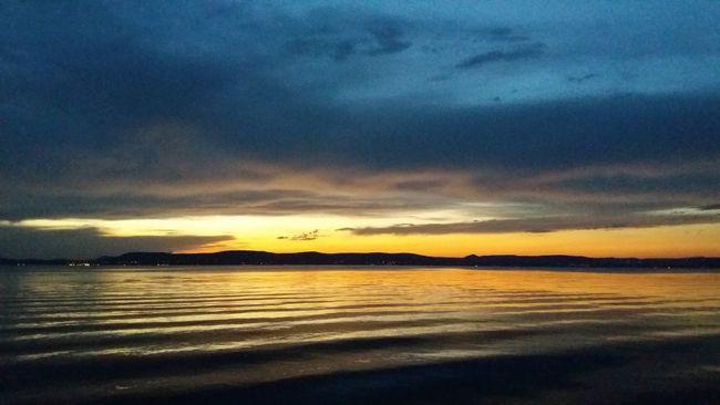 Landscape Sunset Water Lake Hills Orangeandblue Waves Summer Nofilter Noedit Colour Of Life