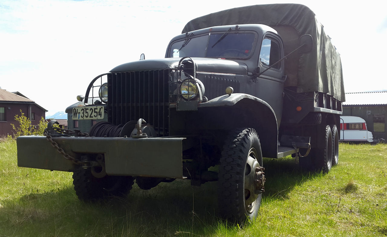 Old truck Agriculture Army Truck Commercial Land Vehicle Day Land Vehicle Mode Of Transport No People Old Truck Outdoors Pick-up Truck Rural Scene Sky Tractor Truck