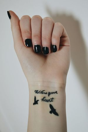 Follow Your Heart ☝♥ Followyourheart Loveit Tattoo ❤ Birds Vscocam