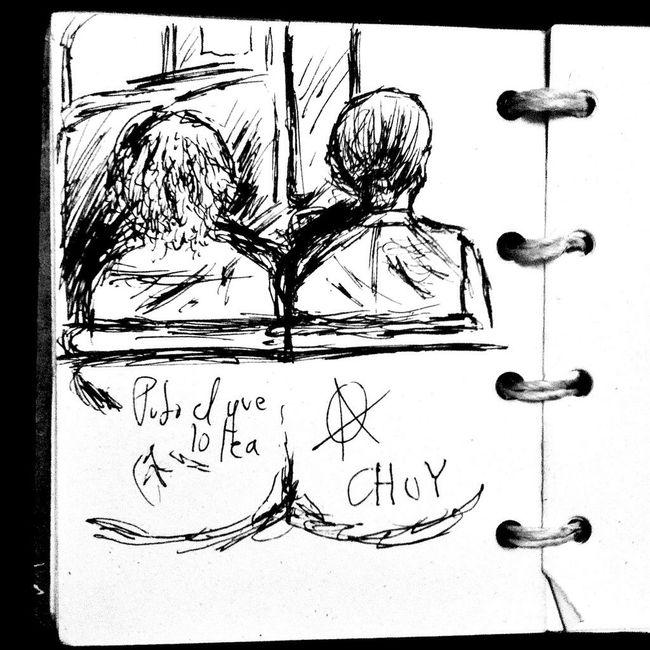 On The Bus Sketching Sketch Drawing Living Life Chuy ArtWork Enjoying The View Mexico Guadalajara