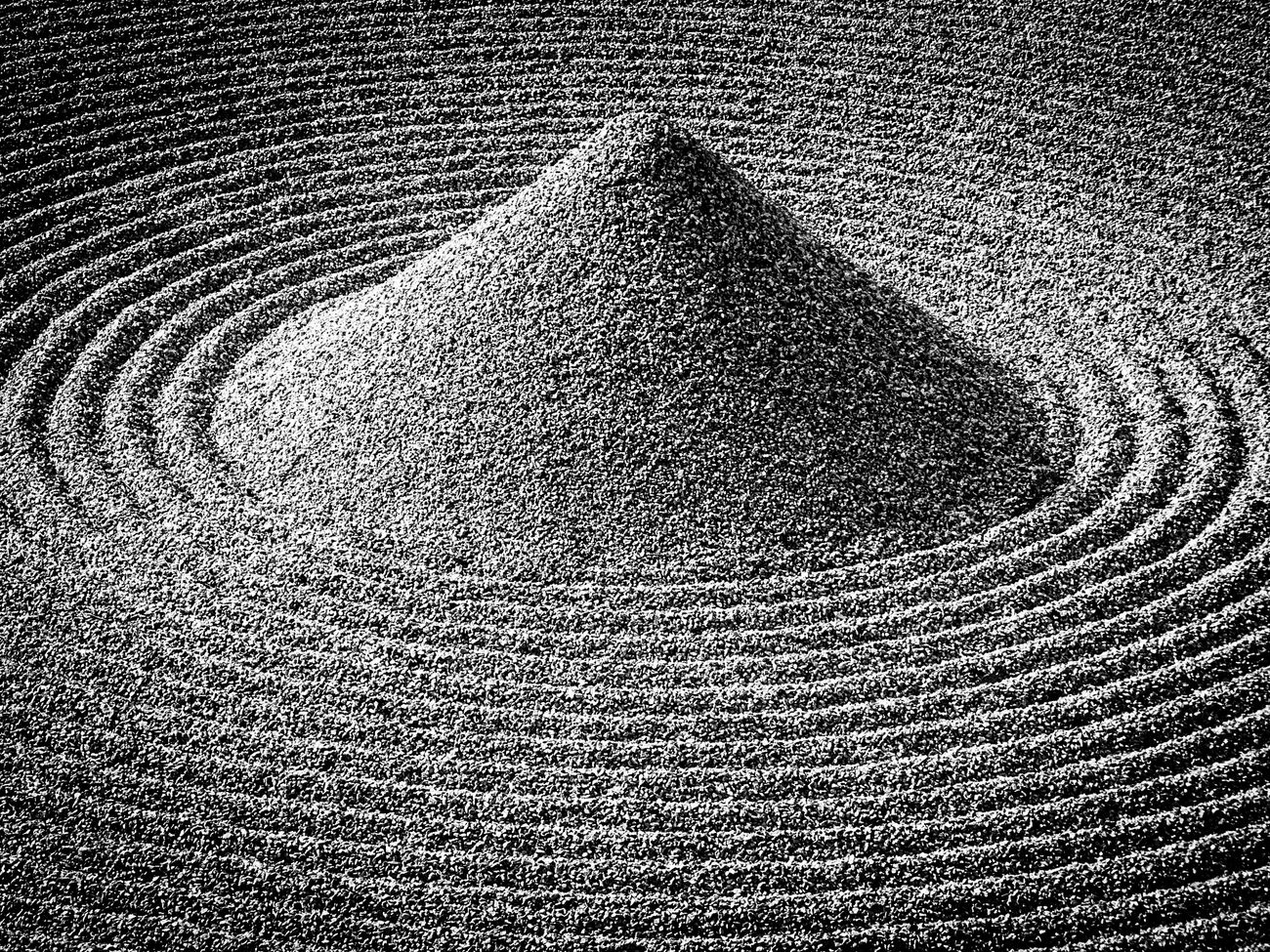 Black And White Stones Zen Garden