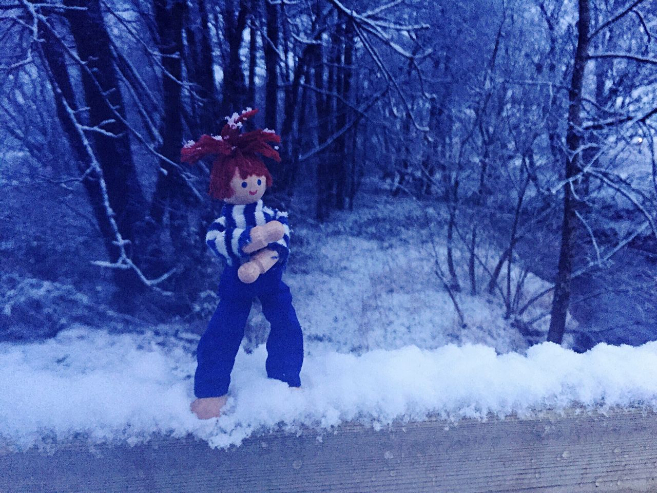 """Brrrrr....I wish I'd wore my jacket 😬..."". Children Only Winter Snow Childhood Outdoors Cold Temperature Day Today In Scotland Season  Doll Wooden Toy Just For Fun Messing Around Playing Fun"