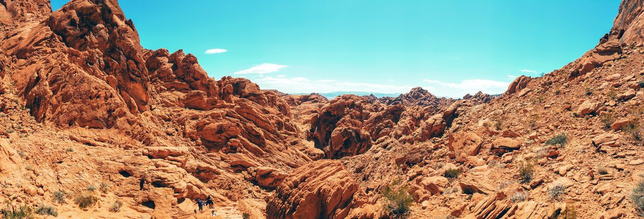 Valley Of Fire State Park Panorama Sky Red Rock Desert Nature Rock - Object Low Angle View Sky Outdoors Scenics Desert