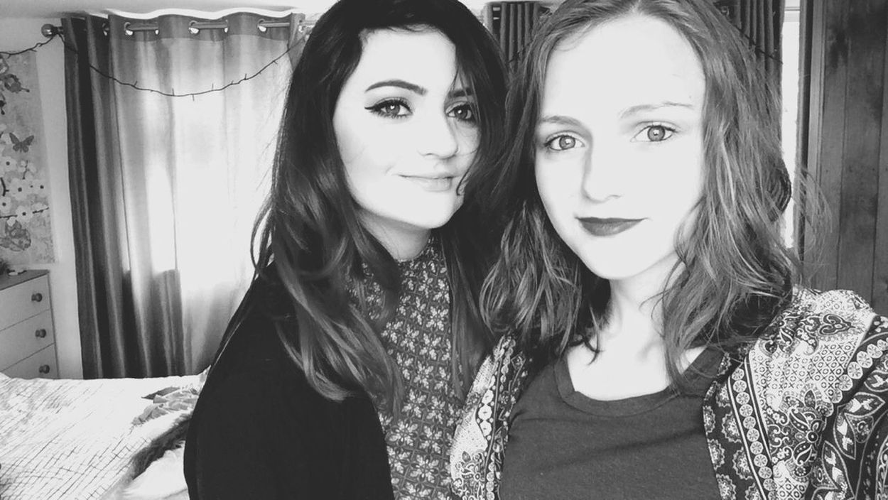 cousin✖️ Selfie ✌ Cousin Love Her Lipstick Black And White Landscape That's Me Hi! Pretty Gal