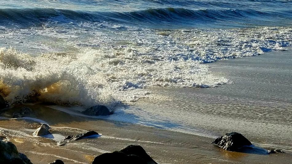 The Great Outdoors - 2017 EyeEm Awards Beach Sand Shore Water Nature Outdoors High Angle View Day Sea Sunlight Beauty In Nature No People Tranquility Scenics Wave Colors Close-up Multi Colored Multiple Colored Copy Space Artistic Background Pattern Textured
