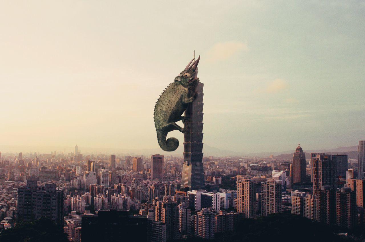 Skyscraper City Lizard King Kong Cut And Paste Edit Pixelmator Photoshop Cut And Paste