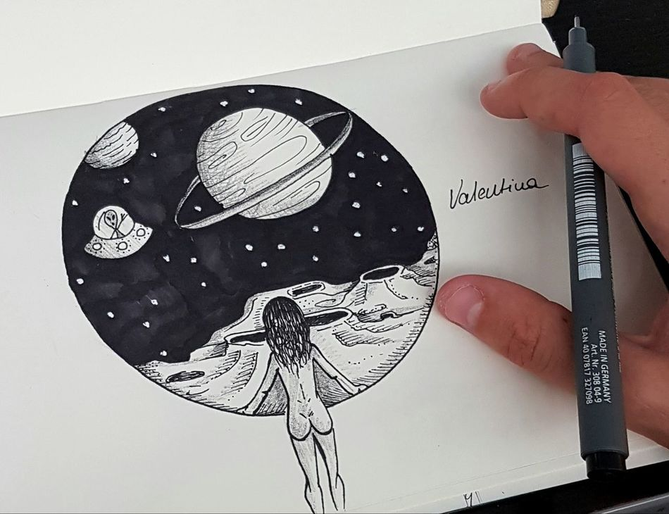 My deepest dream Drawing Art, Drawing, Creativity ArtWork Space Space Exploration SpaceDreamer Dreams Tattoo Design