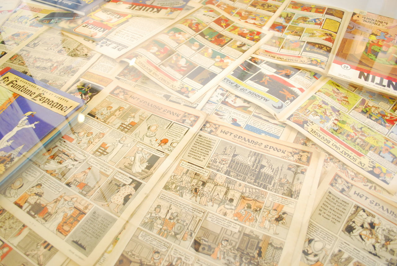 Books Cartoon Comics Day Large Group Of Objects Magazines Old Comics Prints Retro Retro Collection White Background