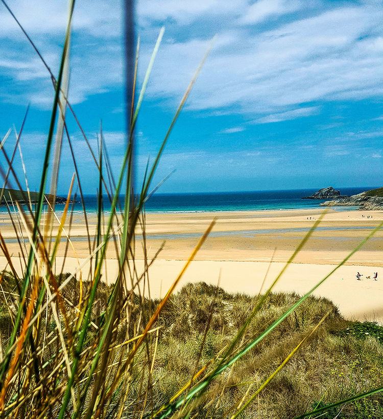 Beaches Cornwall Seascape Beach Horizon Over Water Sky Sand Sea Beauty In Nature Scenics Tranquil Scene Marram Grass Tranquility Water Outdoors People Sand Dune Grass Growth Beaches, Vacation, Colour Beach View