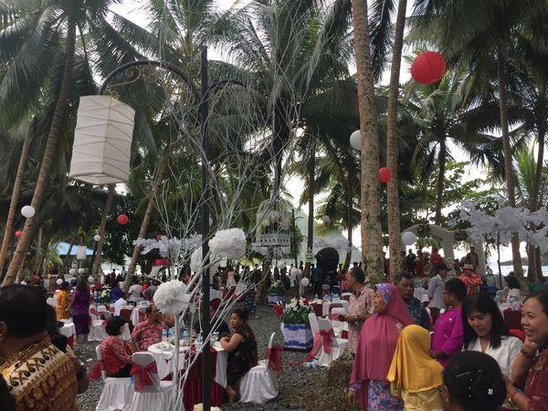 Celebration of life The Wedding Outdoors Large Group Of People Jayapura Papua INDONESIA